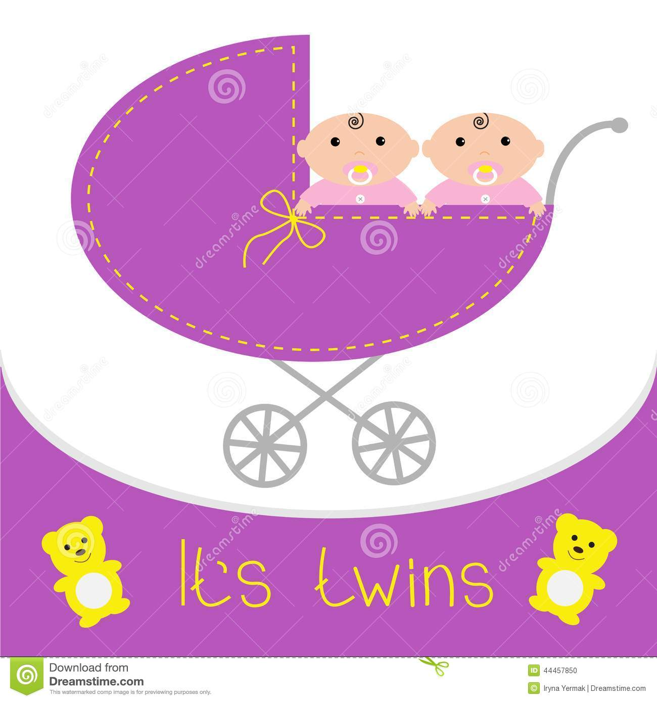 baby carriage its twins girls shower card flat stock pacifier clip art black & white pacifier clipart free
