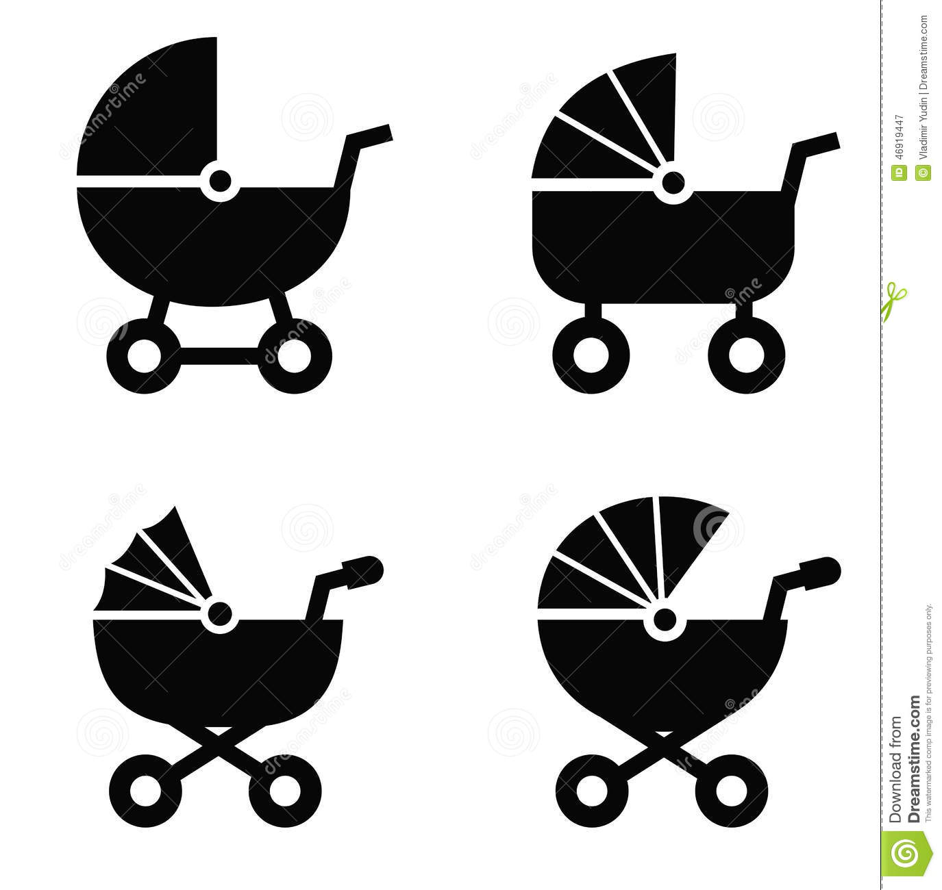 Baby Carriage Stock Vector Image 46919447