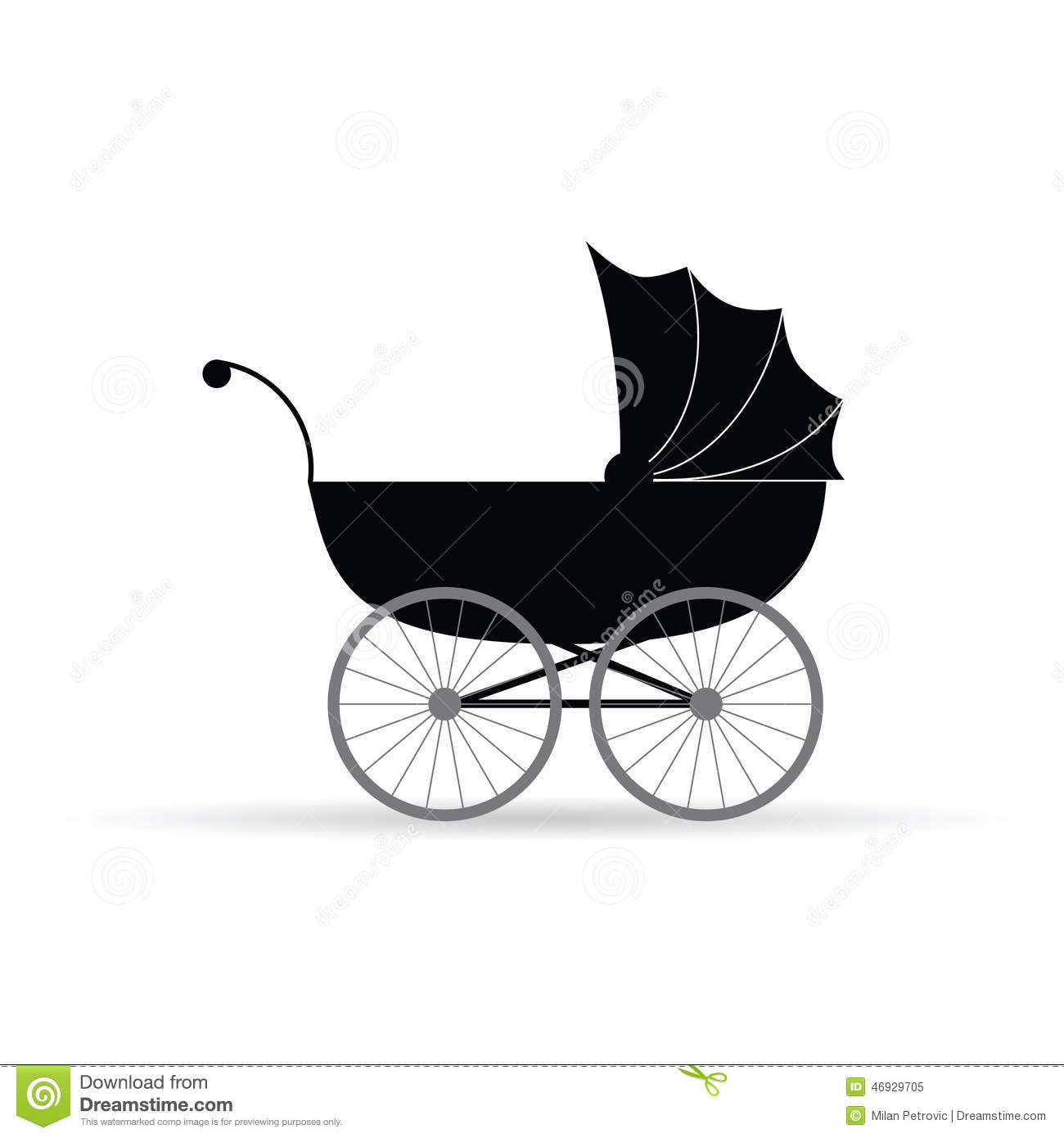 Baby Carriage Silhouette | www.imgkid.com - The Image Kid ...