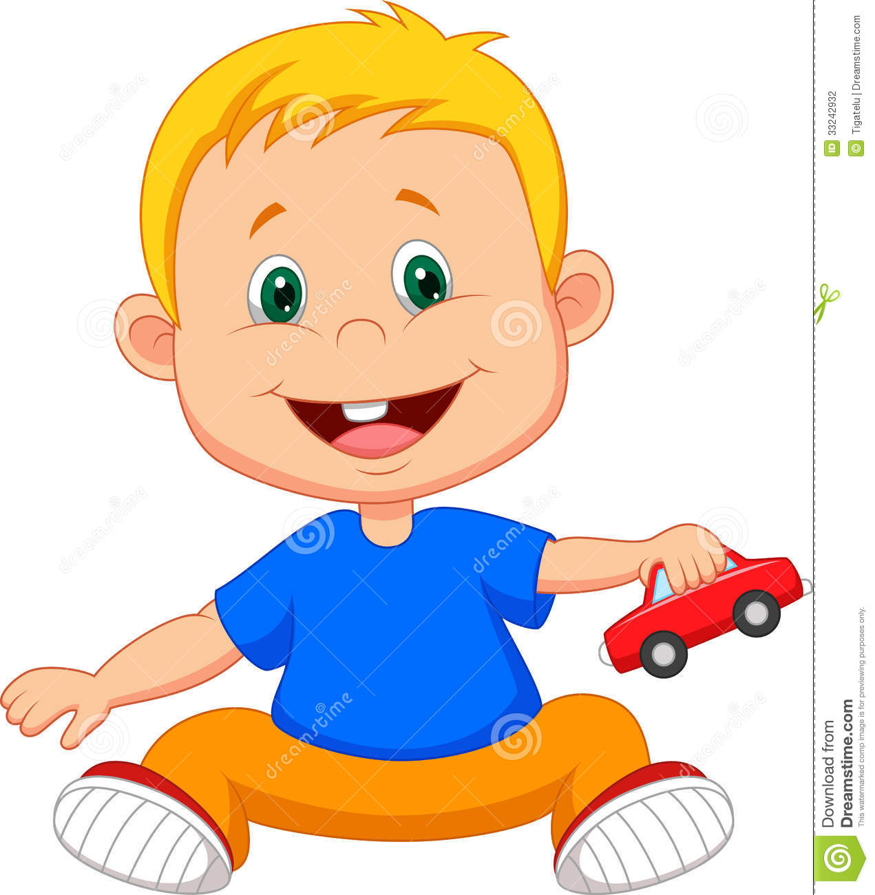 Baby cartoon playing car toy stock vector illustration of baby cartoon playing car toy voltagebd Image collections