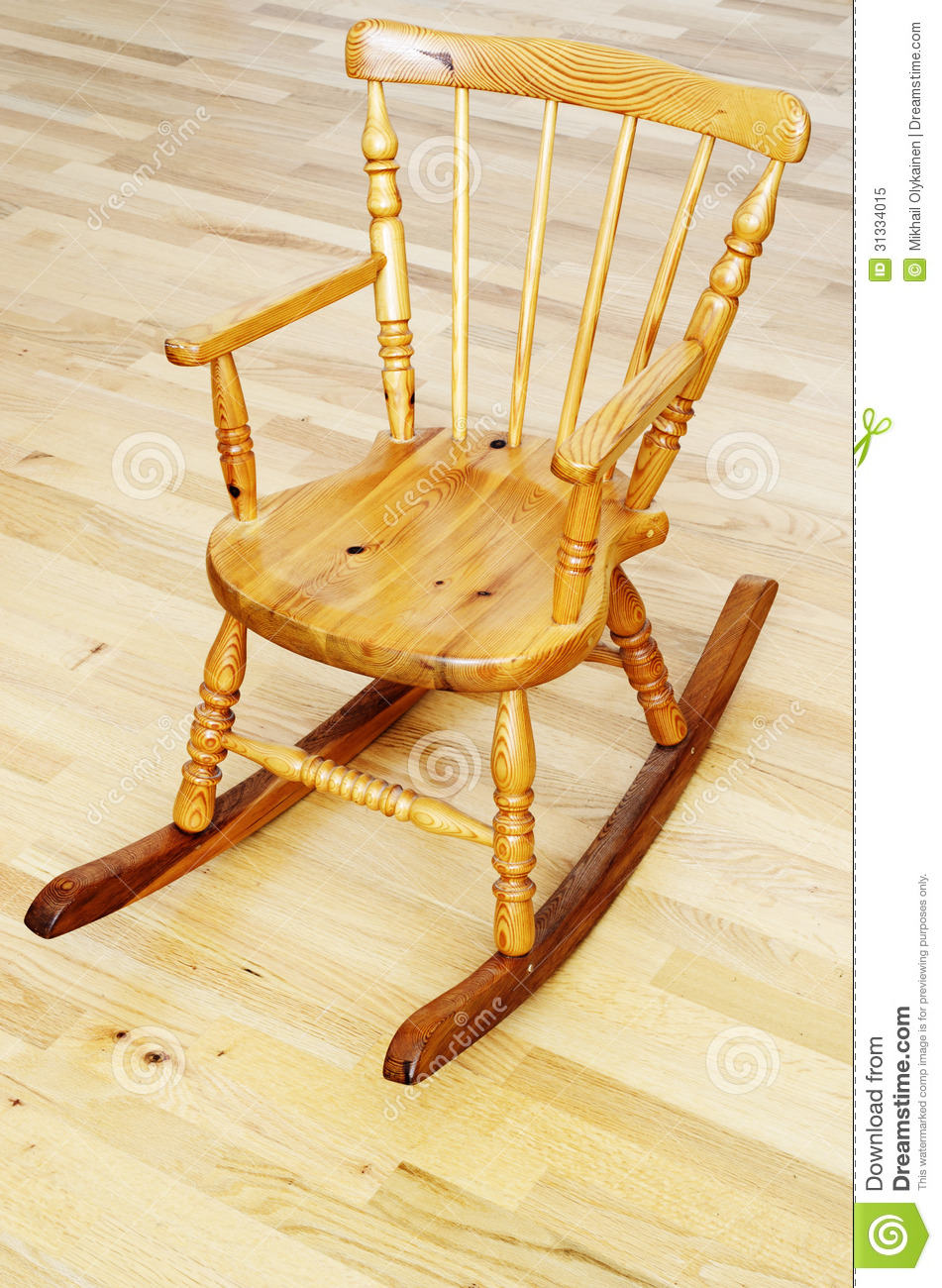 Baby Carved Wooden Rocking Chair Royalty Free Stock Photo - Image ...