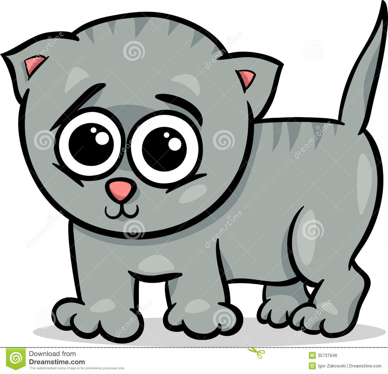 Baby Cat Kitten Cartoon Illustration Royalty Free Stock Image - Image ...