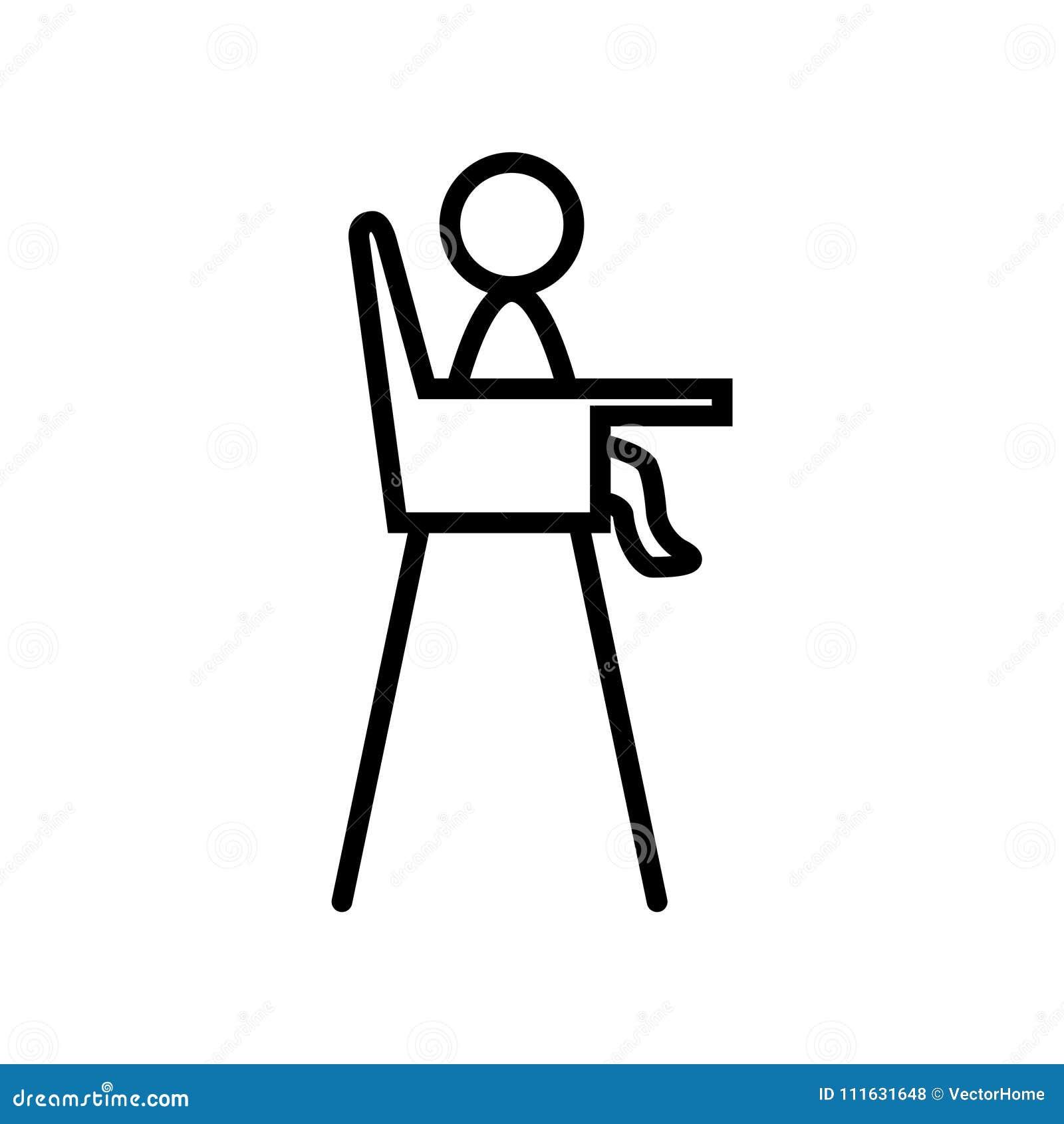Baby Chair Icon Vector Illustration Stock Vector Illustration