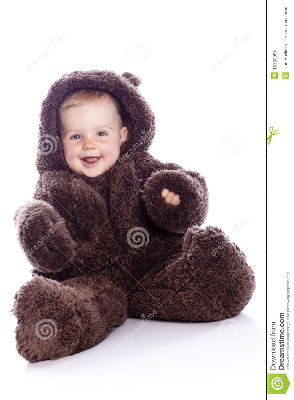 Download Baby Child In Teddy-bear Costume Stock Photo - Image of teddy smiling  sc 1 st  Dreamstime.com & Baby Child In Teddy-bear Costume Stock Photo - Image of teddy ...