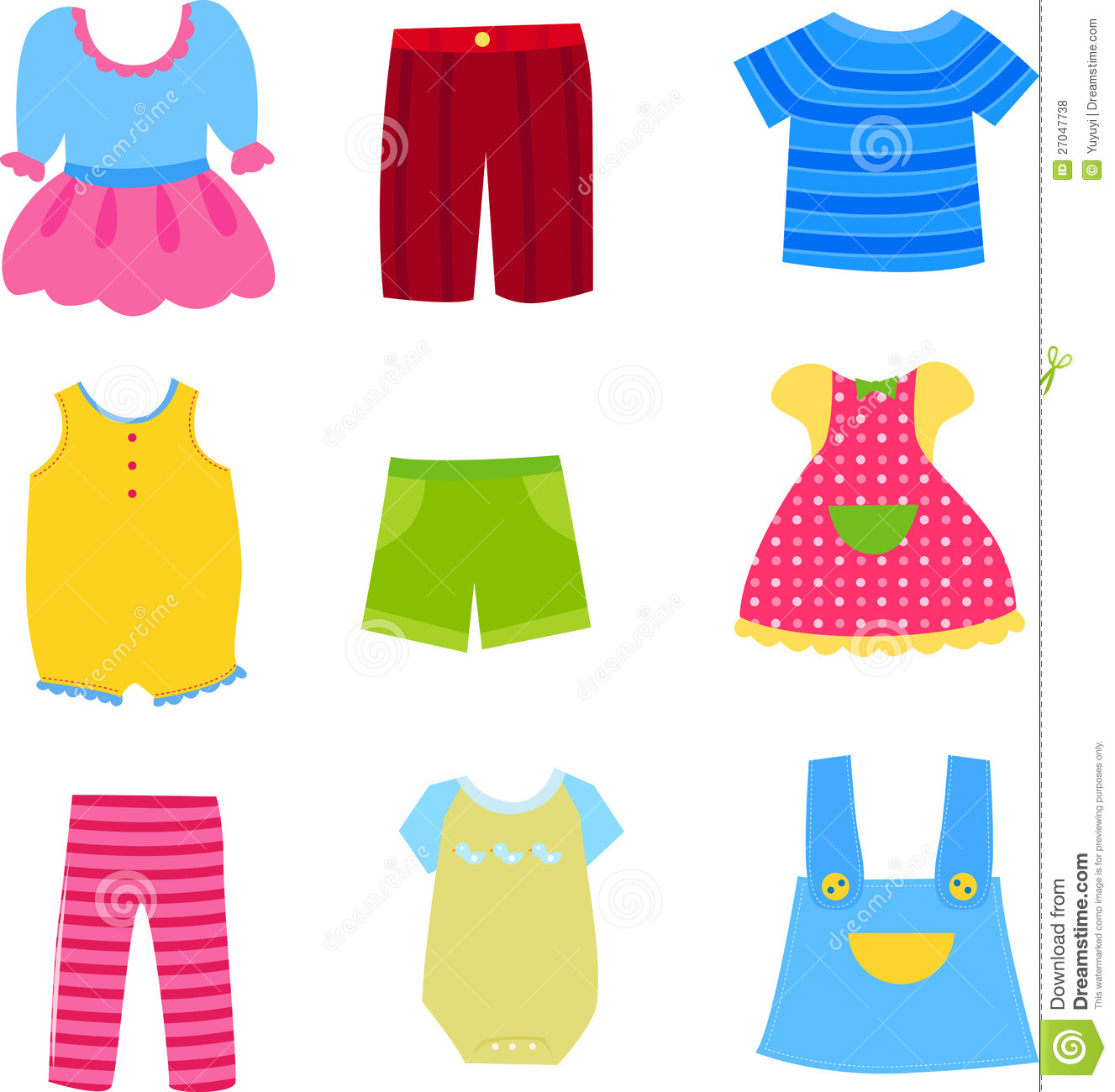 baby and children clothes collection stock vector