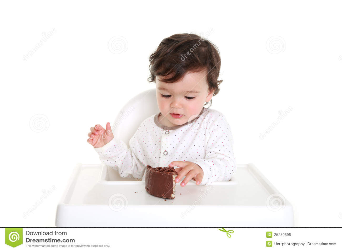 Baby Eating Cake Clipart : Baby With Chocolate Cake Royalty Free Stock Image - Image ...