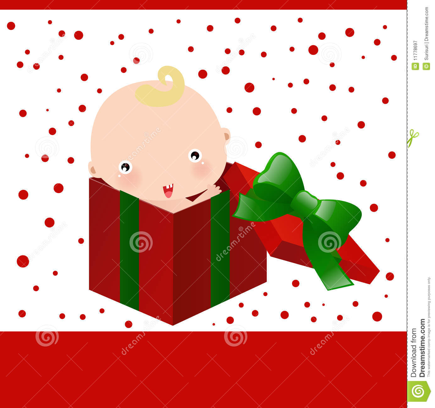 Baby And Christmas Gift Box Stock Vector - Illustration of present ...