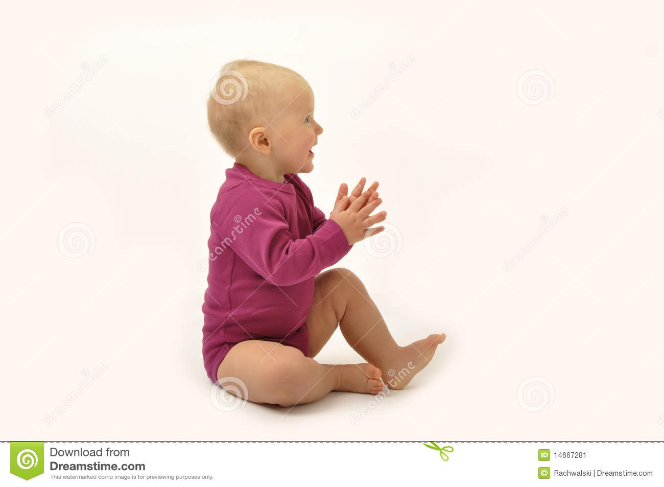 Baby Clapping Hands Stock Image - Image: 14667281
