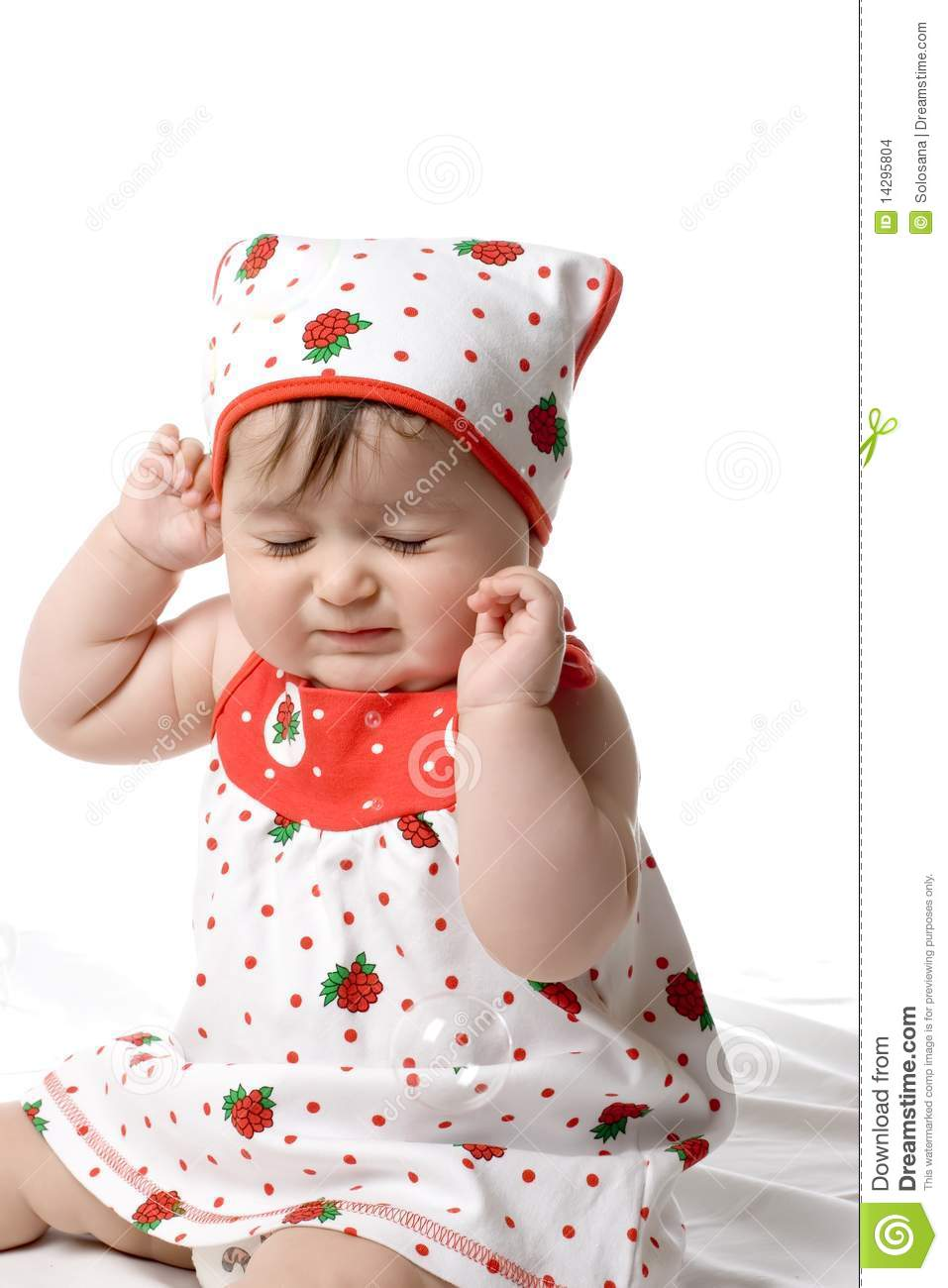 Baby Closing Her Eyes Tight Stock Images - Image: 14295804
