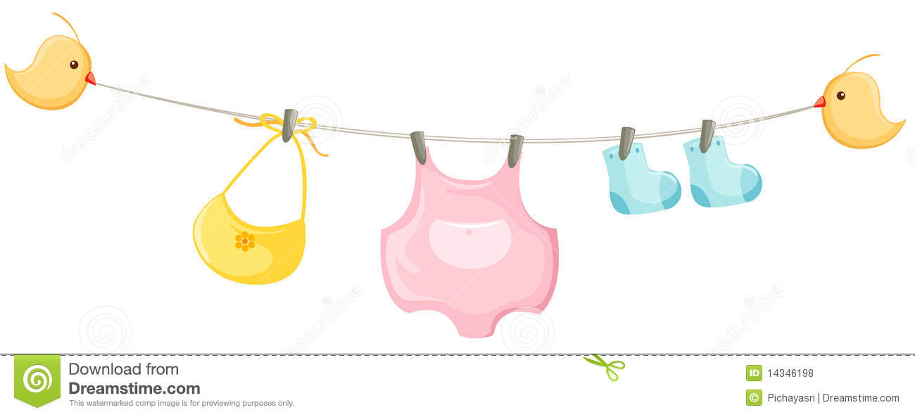 baby clothes line stock illustrations 1 700 baby clothes line rh dreamstime com Baby Clip Art baby clothesline clipart free
