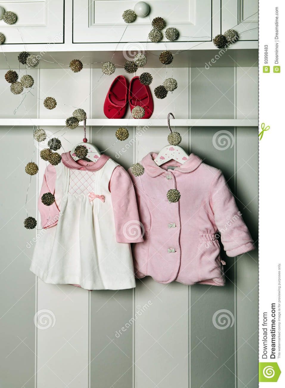 Baby Clothes Concept Of Child Fashion Flat Lay Children S Clothing