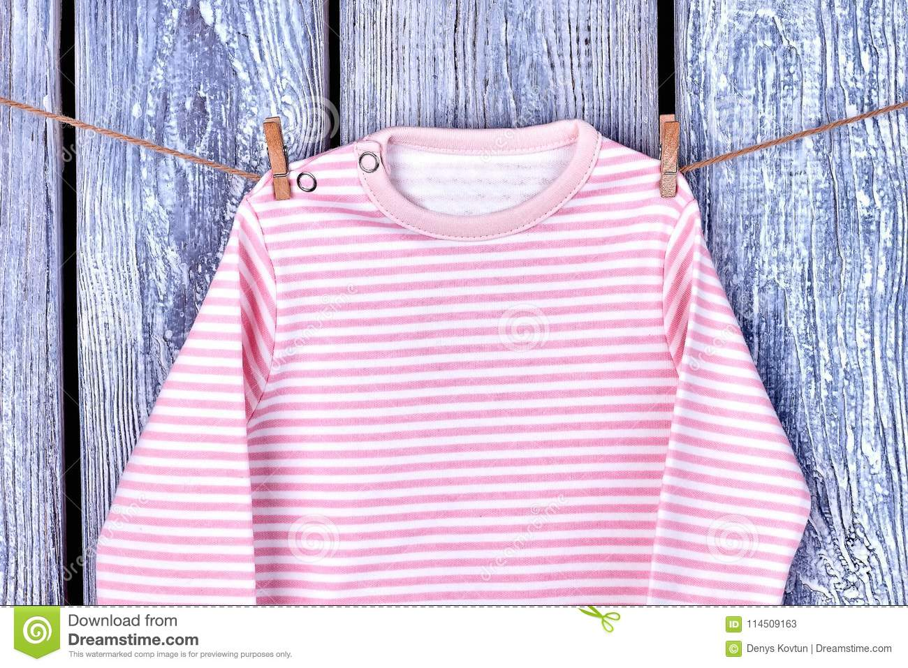 c48936339 Baby Clothes Hanging On Rope. Stock Image - Image of laundry ...