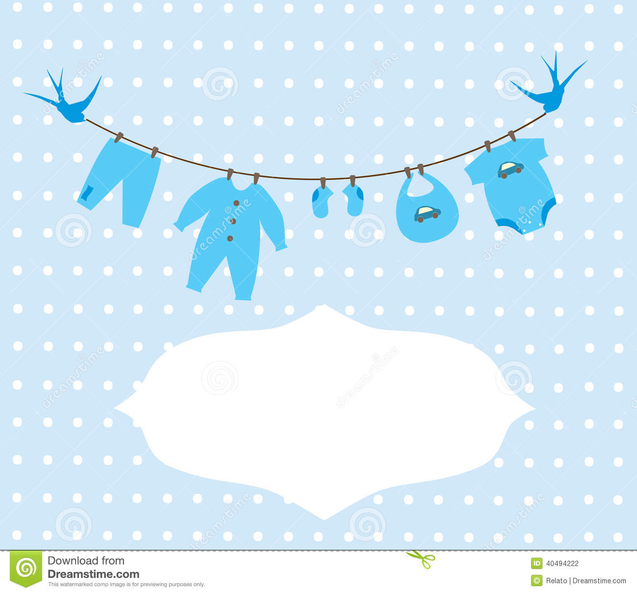 Baby Clothes Stock Vector - Image: 40494222