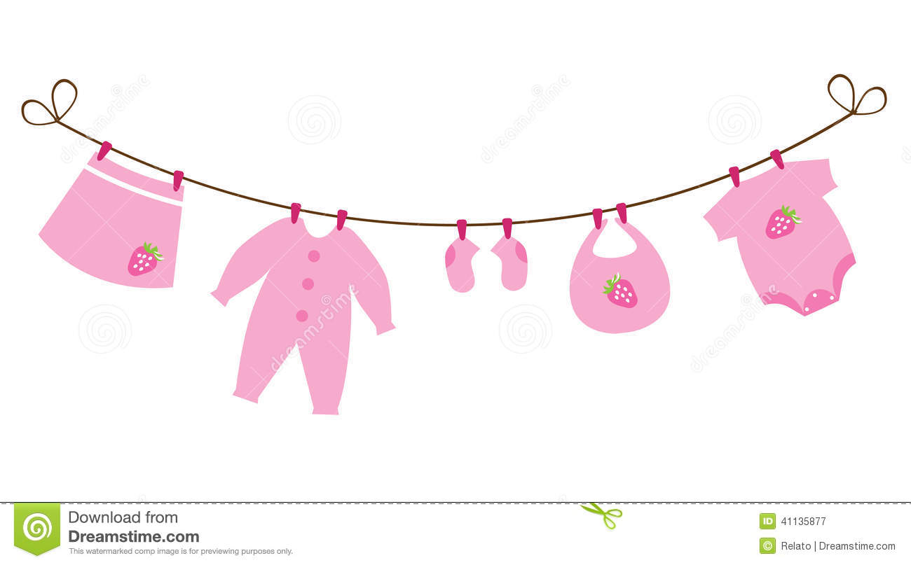 baby clothes line stock illustrations 1 700 baby clothes line rh dreamstime com Baby Girl Clip Art baby clothes clothesline clipart