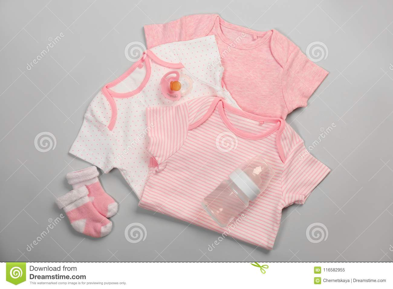 Baby Clothes And Necessities Stock Image - Image of baby ...