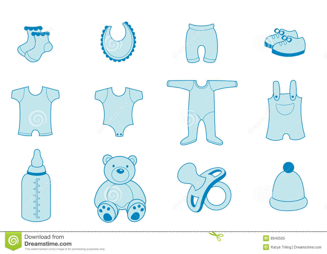 Baby Clothing Silhouette Stock Vector Illustration Of Icon 40978678