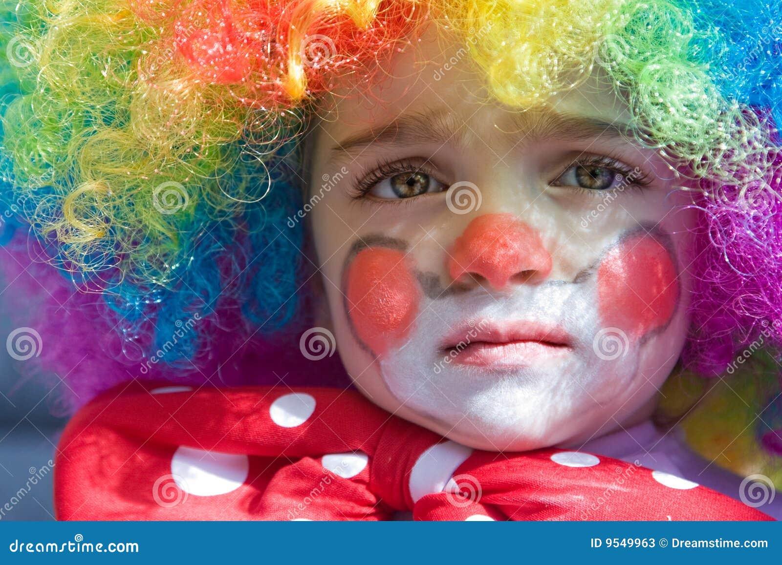 Baby Clown Stock Image Image Of Girl Joking Hair