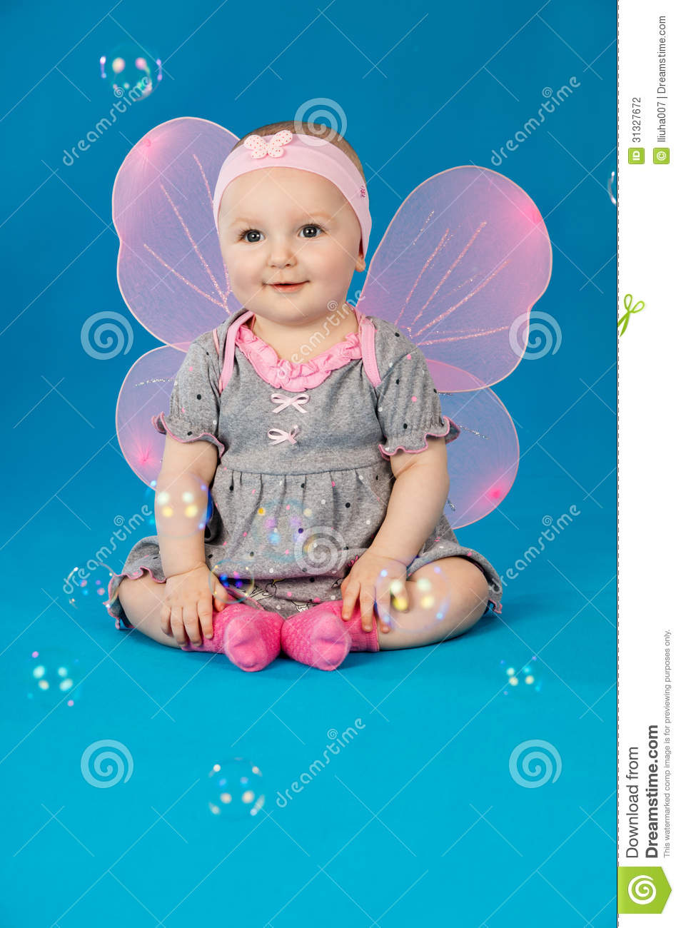 Baby In Costume Butterfly Stock Photography - Image: 31327672