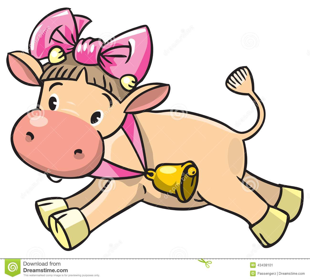 Baby Cow Stock Vector - Image: 43438101