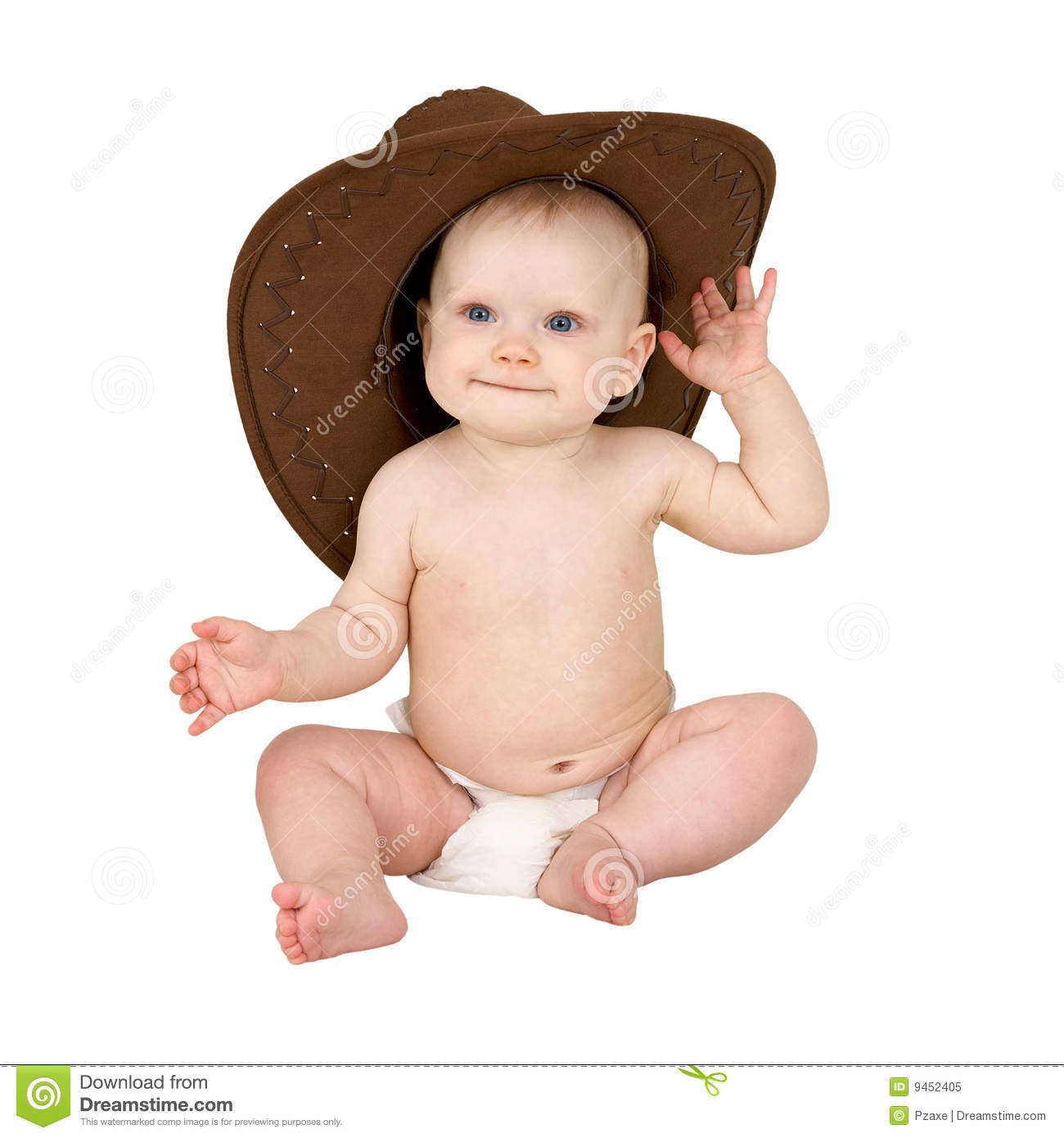 Baby in cowboy hat stock image. Image of childcare 26b770f6e47