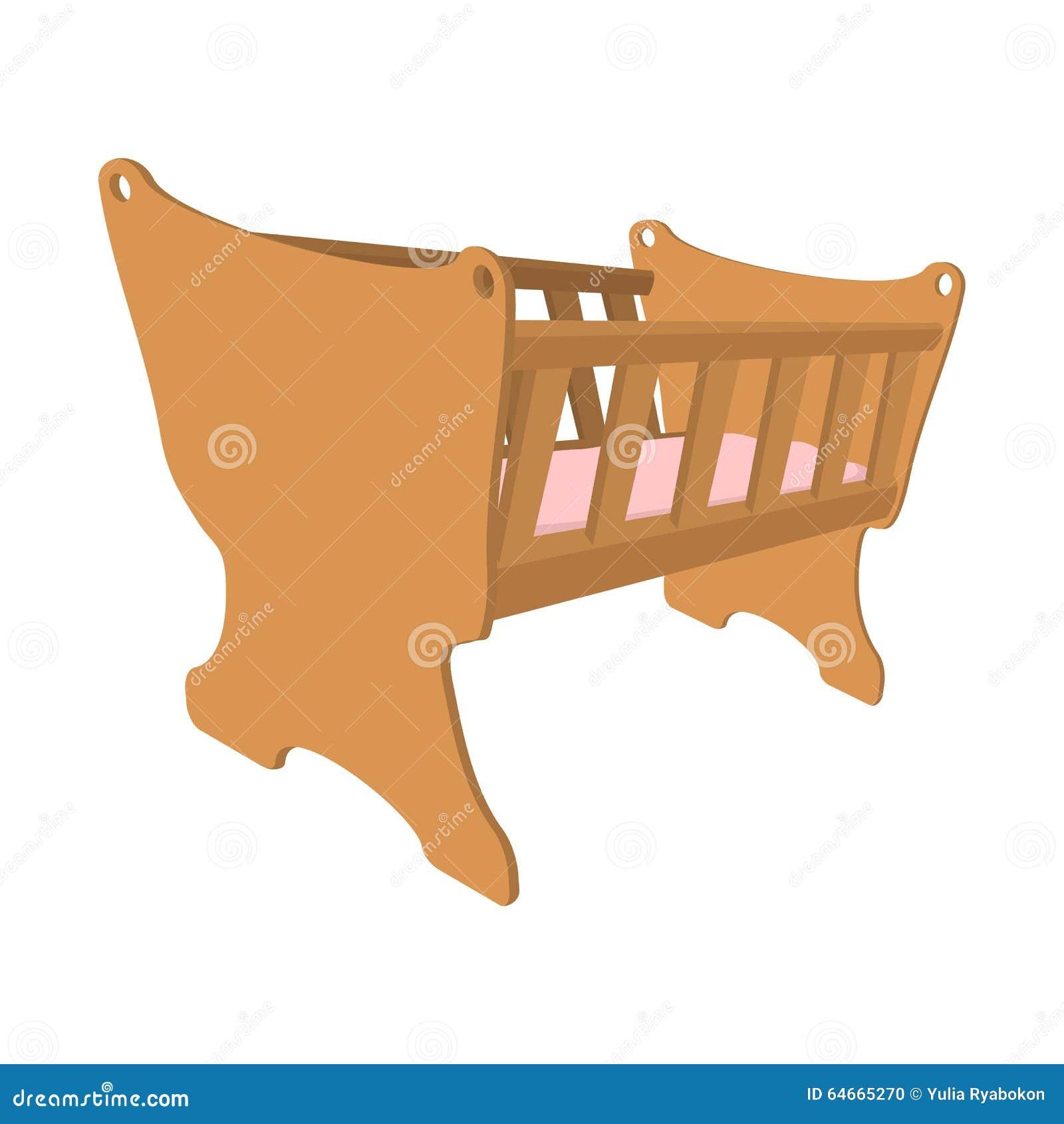 Baby Cradle Cartoon Icon Stock Vector - Image: 64665270