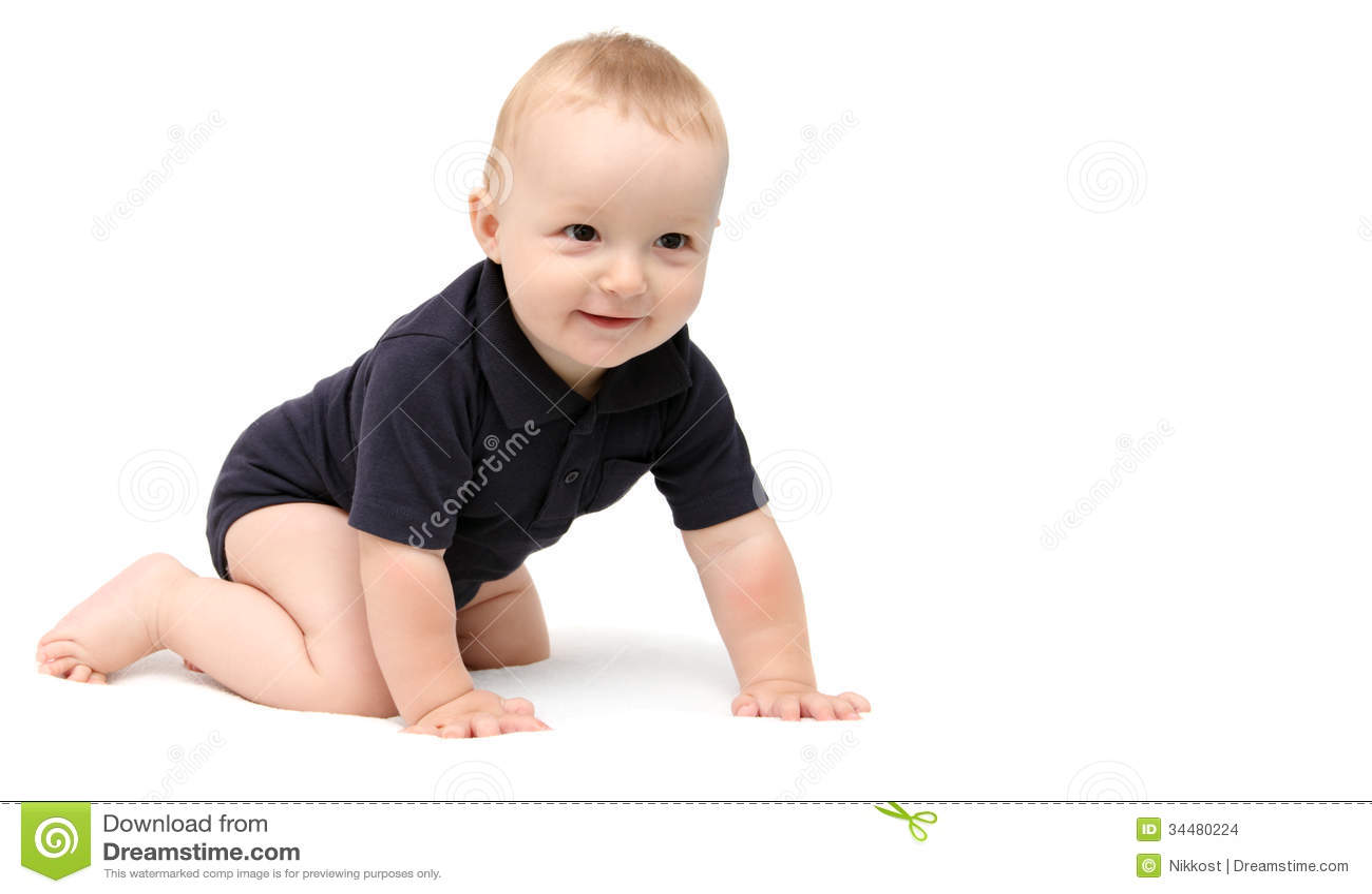 Baby Crawling Stock Images   Image  34480224