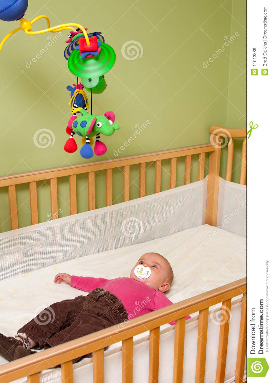 baby in crib royalty free stock images  image  - baby in crib royalty free stock images