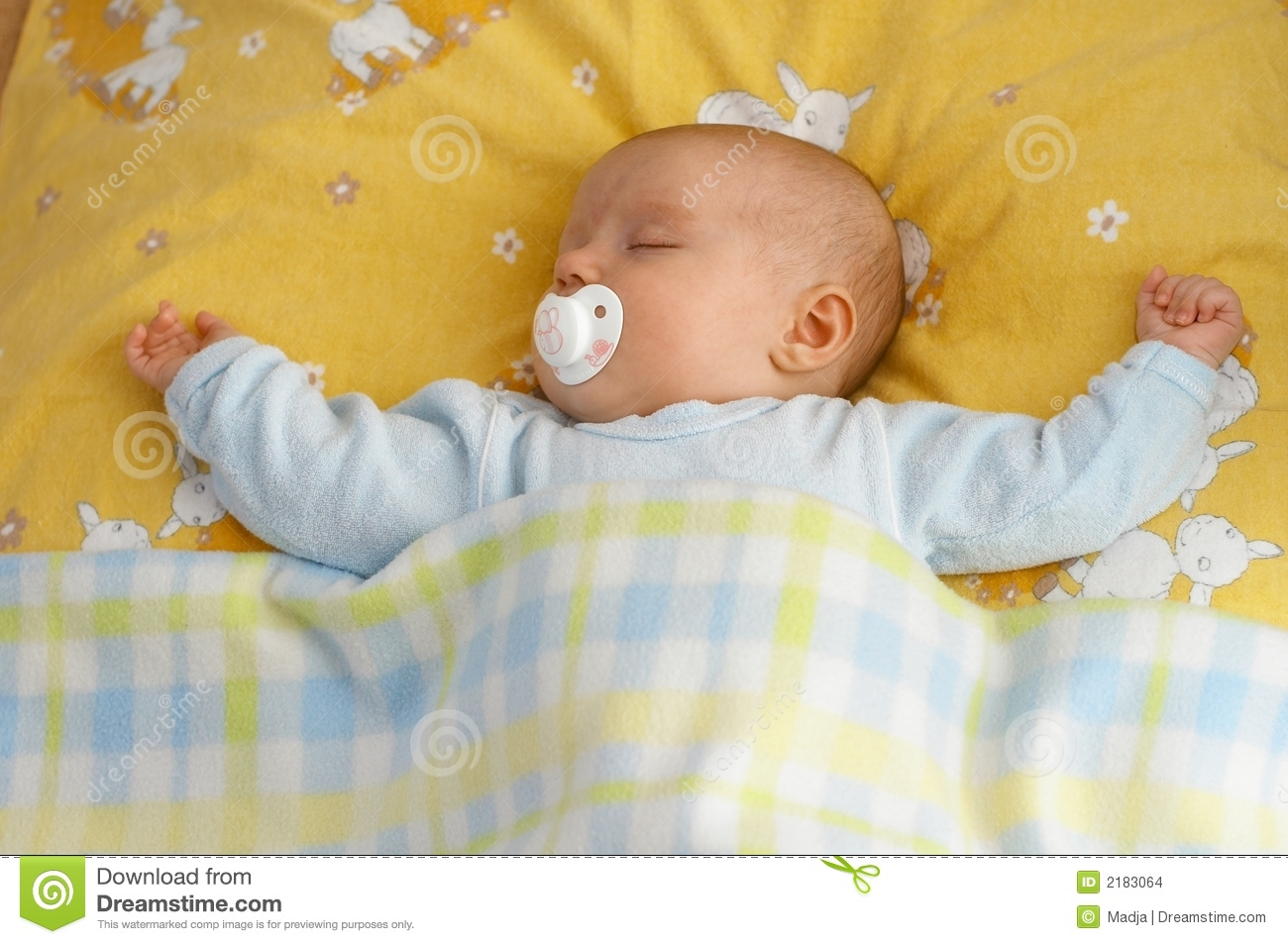 Baby In Crib Stock Images - Image: 2183064