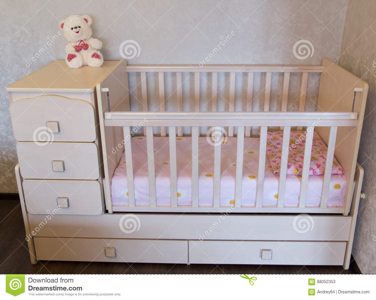 Baby crib. Bed for child