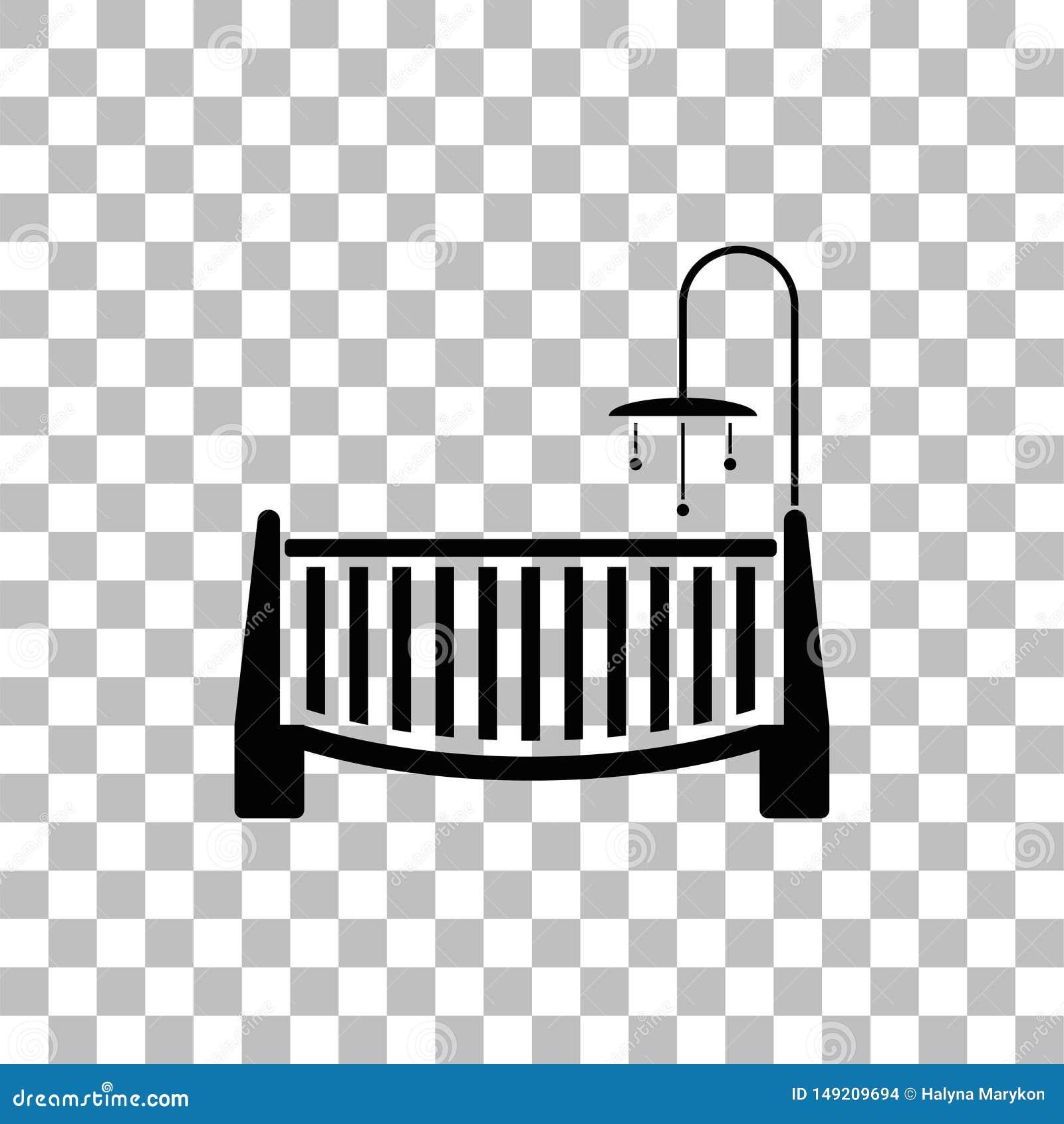 Pleasant Baby Crib Icon Flat Stock Vector Illustration Of Happy Theyellowbook Wood Chair Design Ideas Theyellowbookinfo
