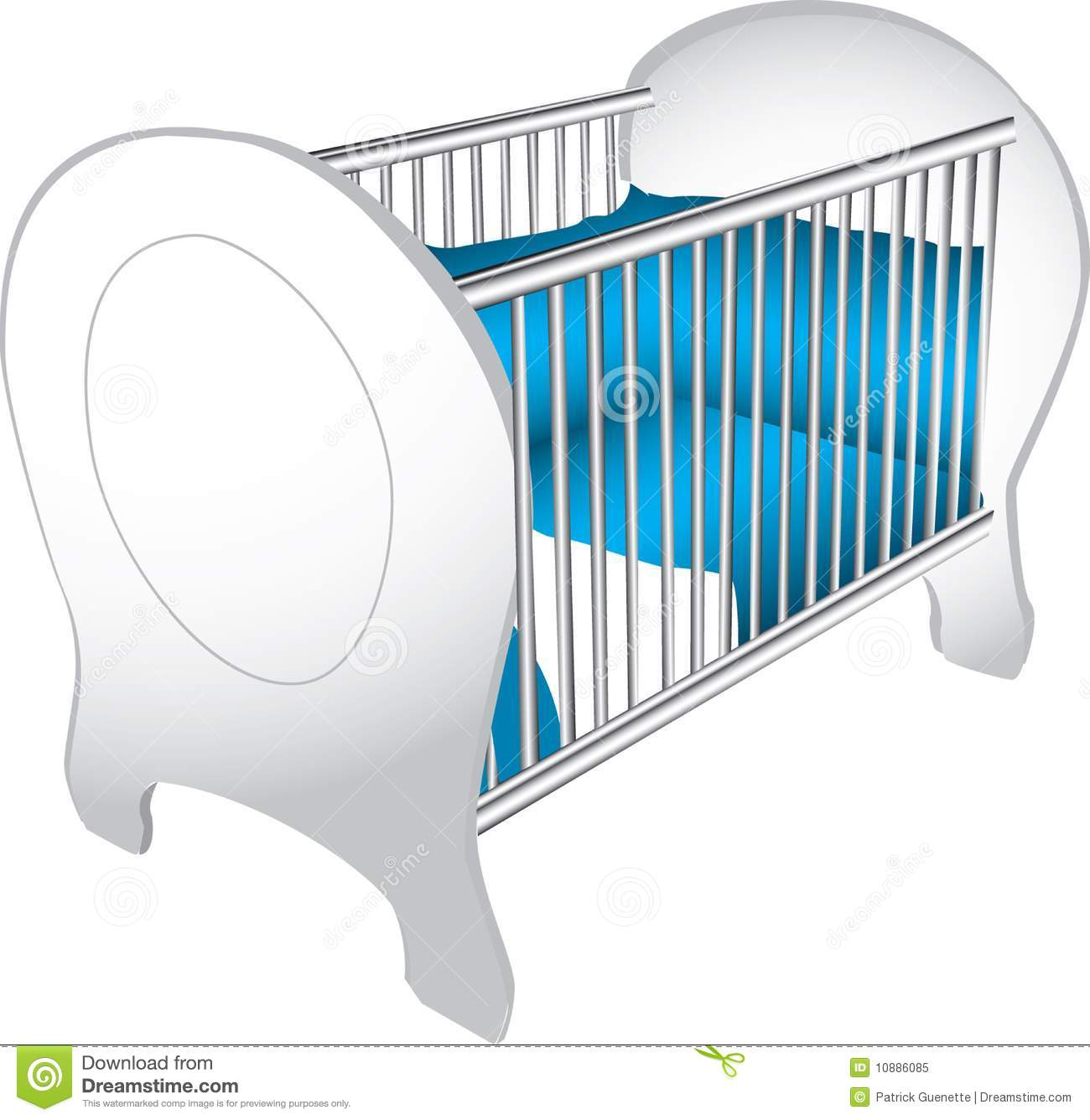 Sleeping Baby In Crib Clip Art Baby crib illustration