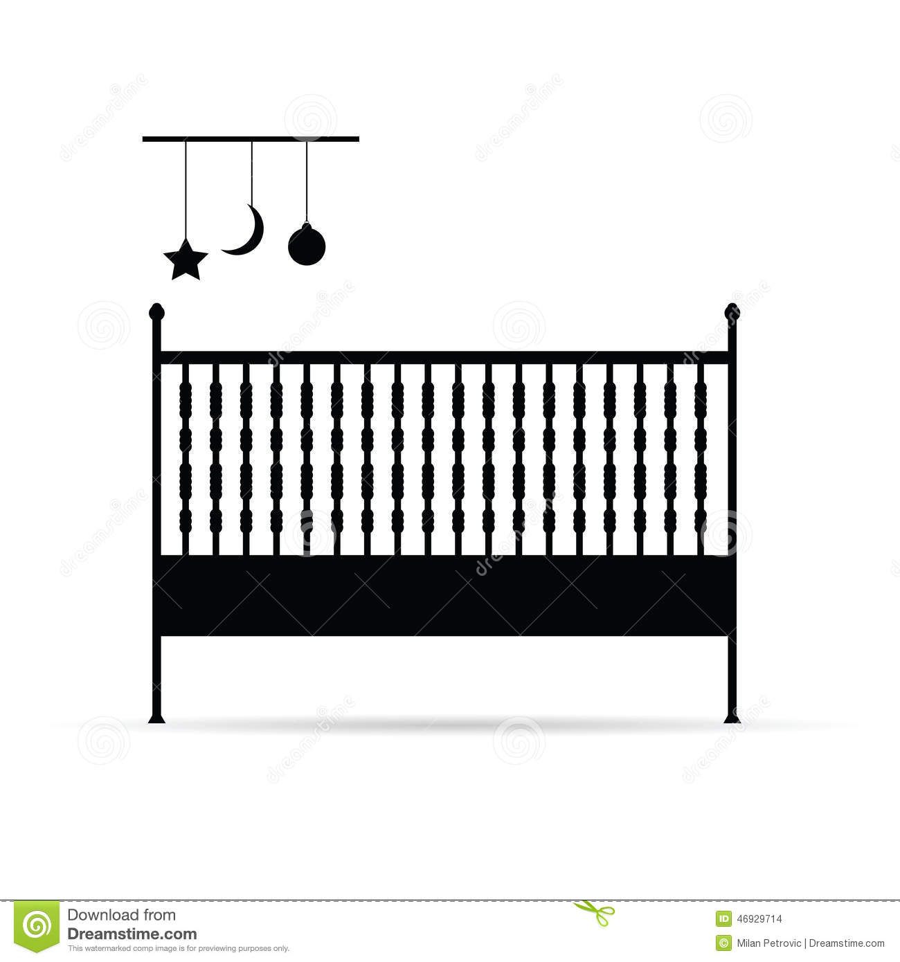Baby cribs for free - Baby Crib Vector Illustration