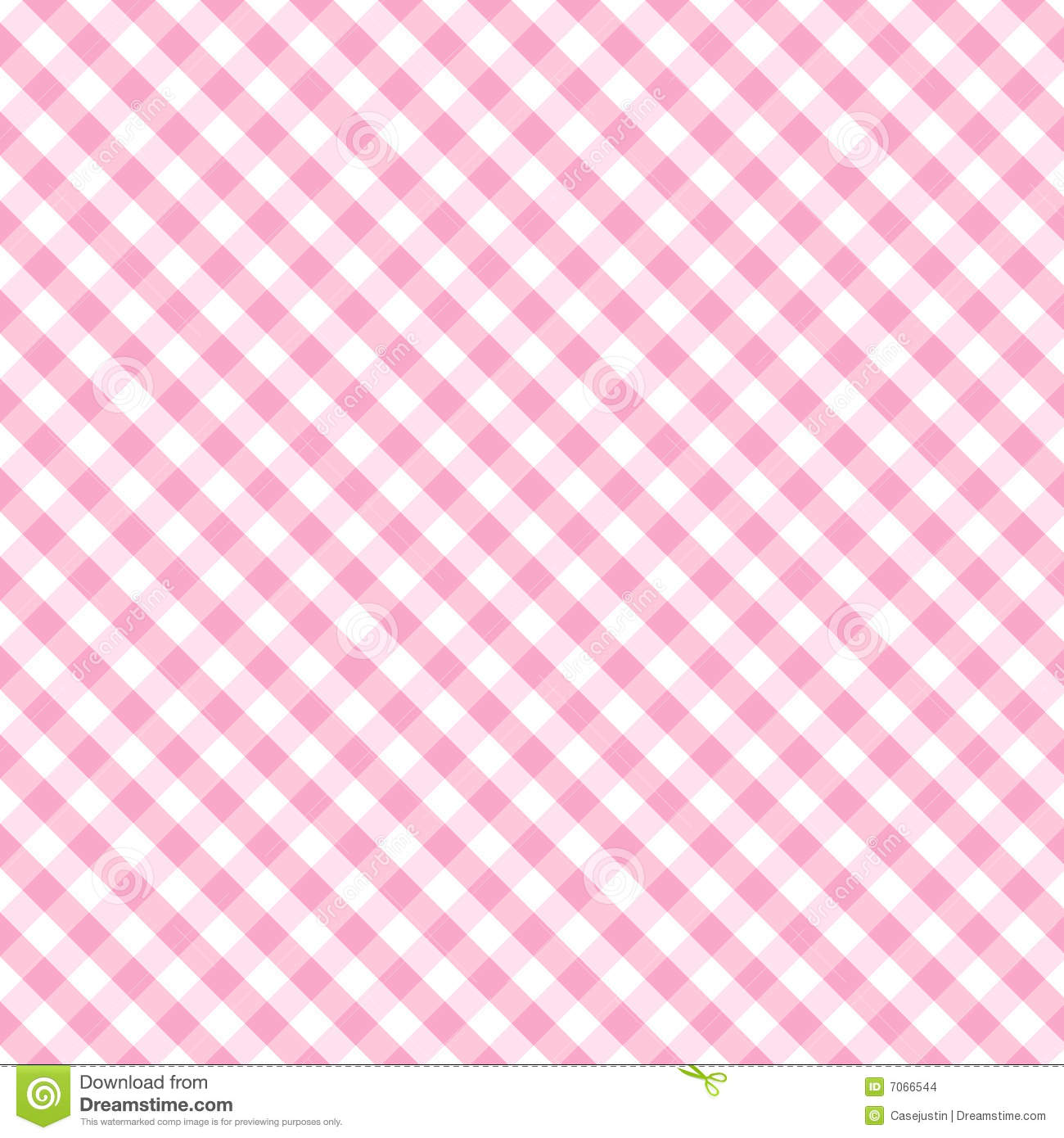 Baby cross gingham pink seamless weave