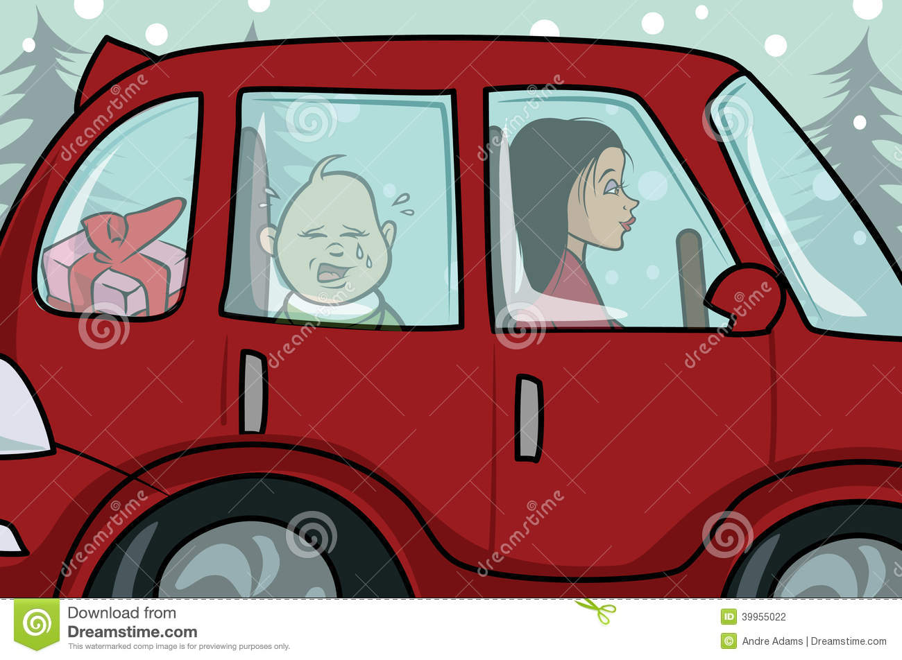 Baby Crying Car Stock Illustration Image 39955022