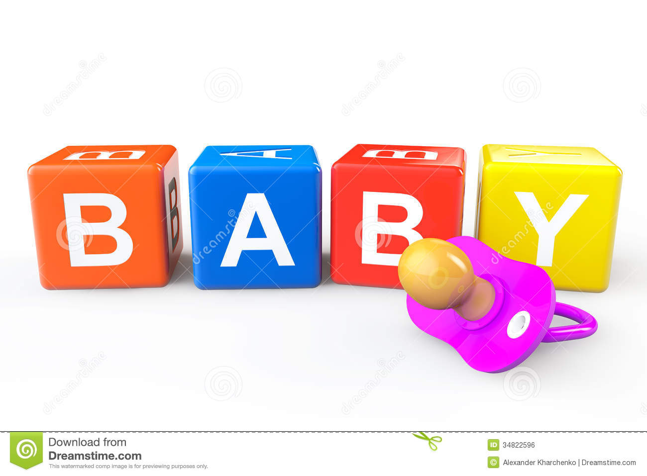 Baby Cubes With Pacifier Royalty Free Stock Image - Image ...