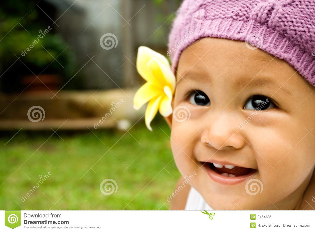 Baby Cute Smile Stock Photo. Image Of Portrait, Asian