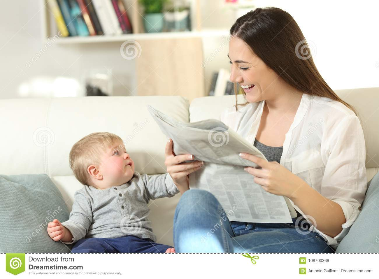 Baby demanding attention of his mother