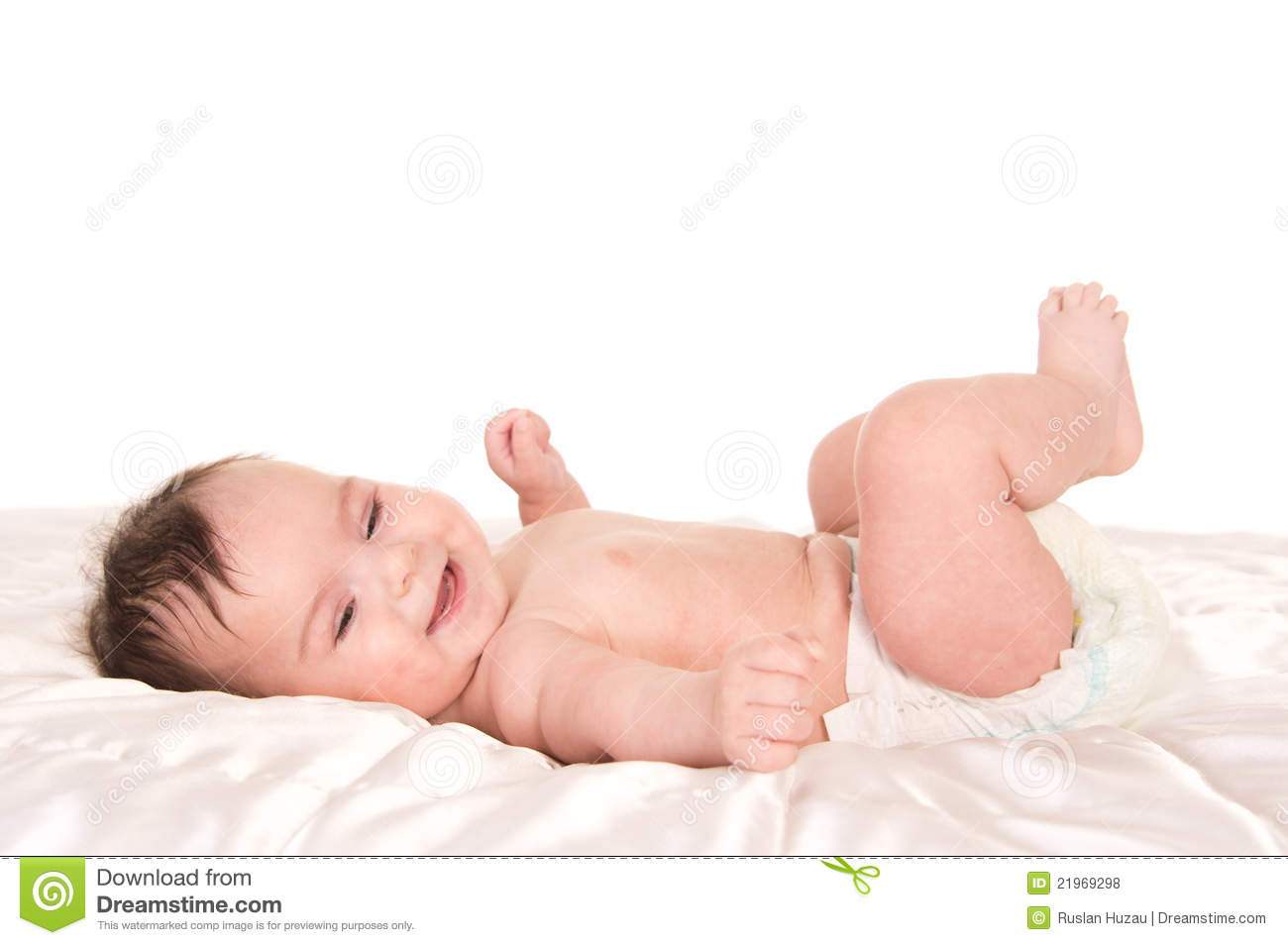 Baby in diapers stock photo. Image of infant, small, child ...