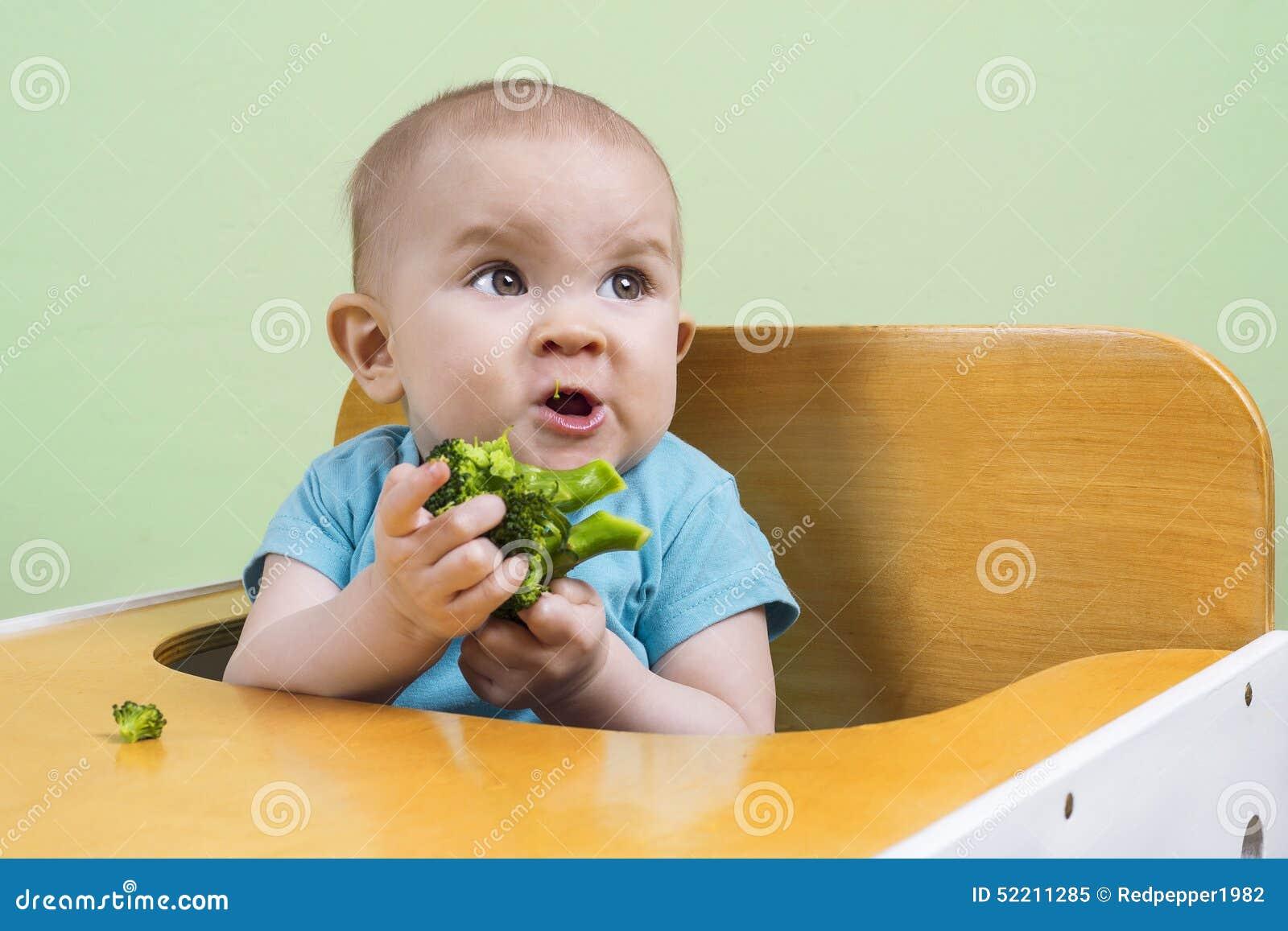 Baby doesn t like broccoli stock image. Image of human ...