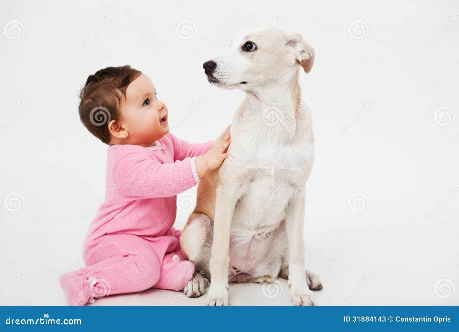 Baby And Dog Pet Stock Photos - Image: 31884143