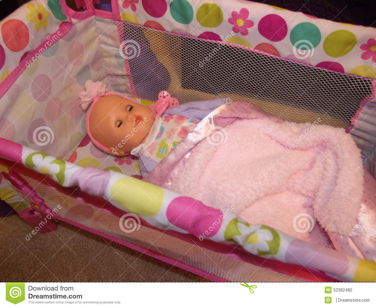 Baby Doll Crib Stock Images 259 Photos