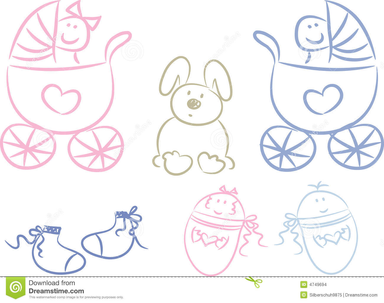 baby doodles stock images image 4749694 baby buggy clipart free pink baby buggy clipart