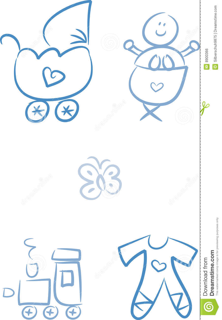 Baby Doodles Baby Boy Royalty Free Stock Image Image