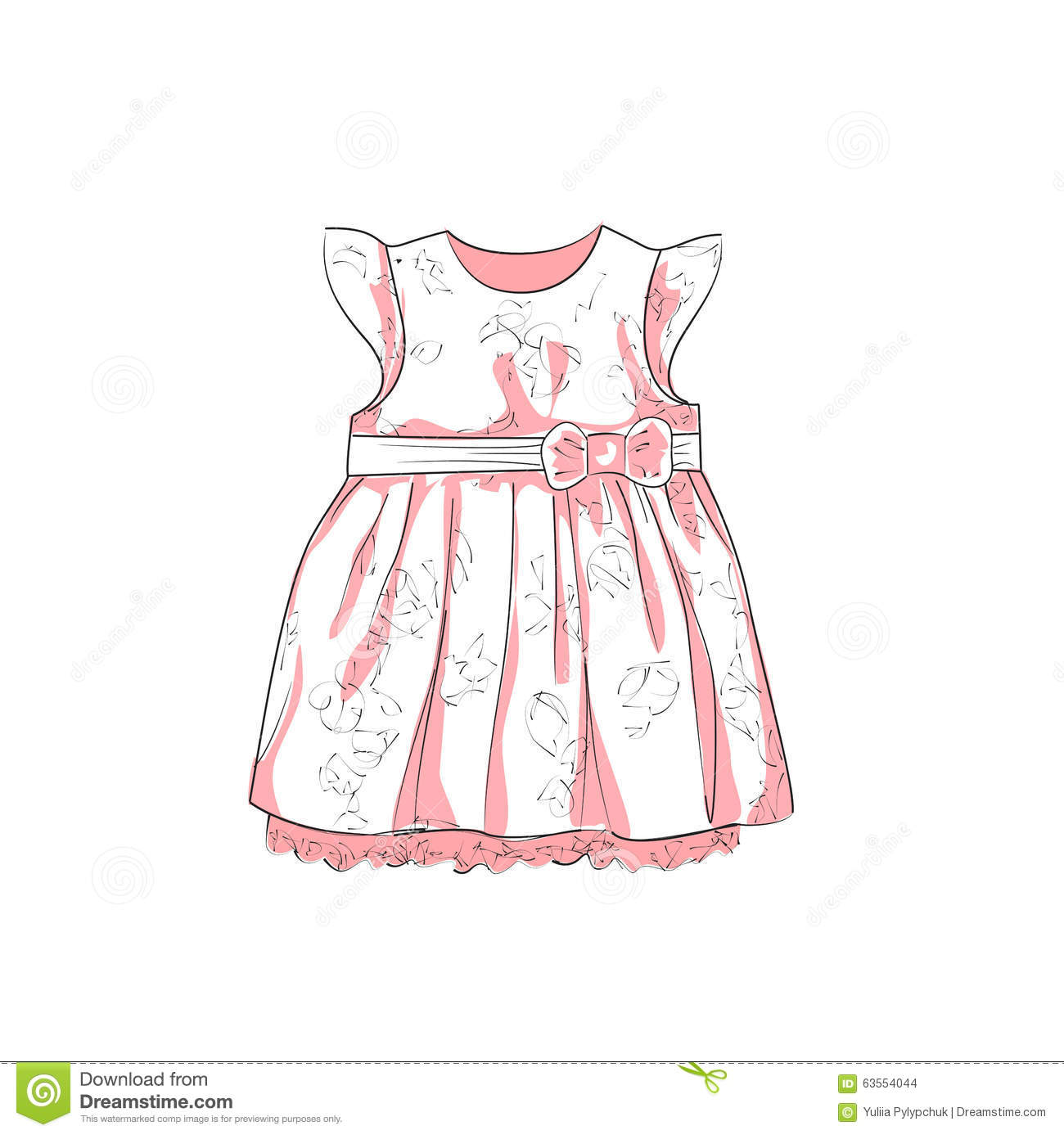 baby dress sketch stock vector image 63554044 pregnant clipart cheering pregnancy clipart