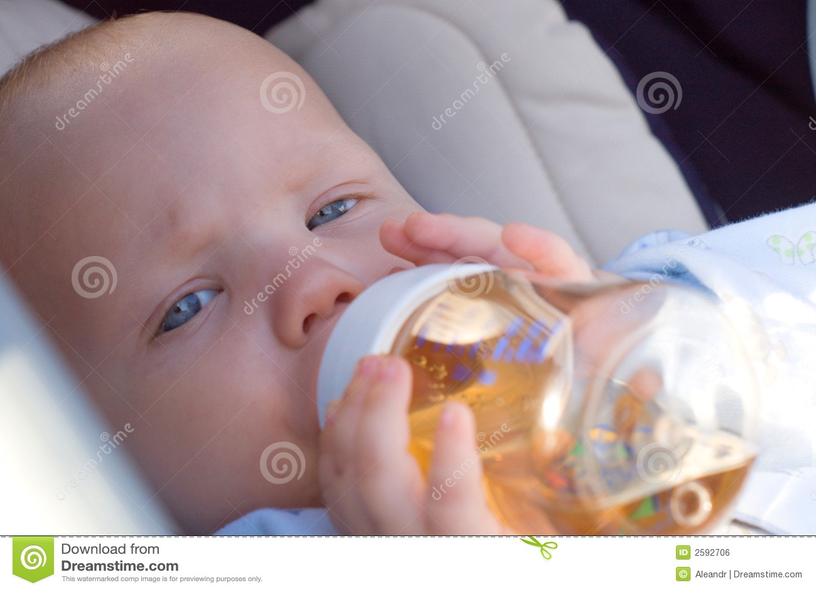 Baby Drinking Tea Royalty Free Stock Image - Image: 2592706