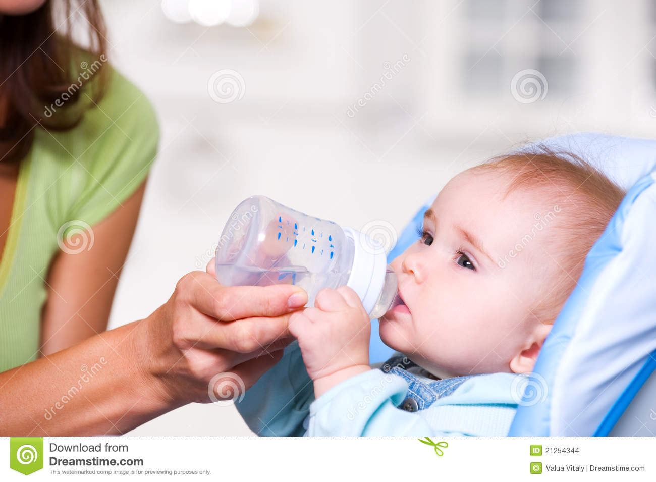 Baby Drinking Water Stock Photo Image Of Breakfast Care