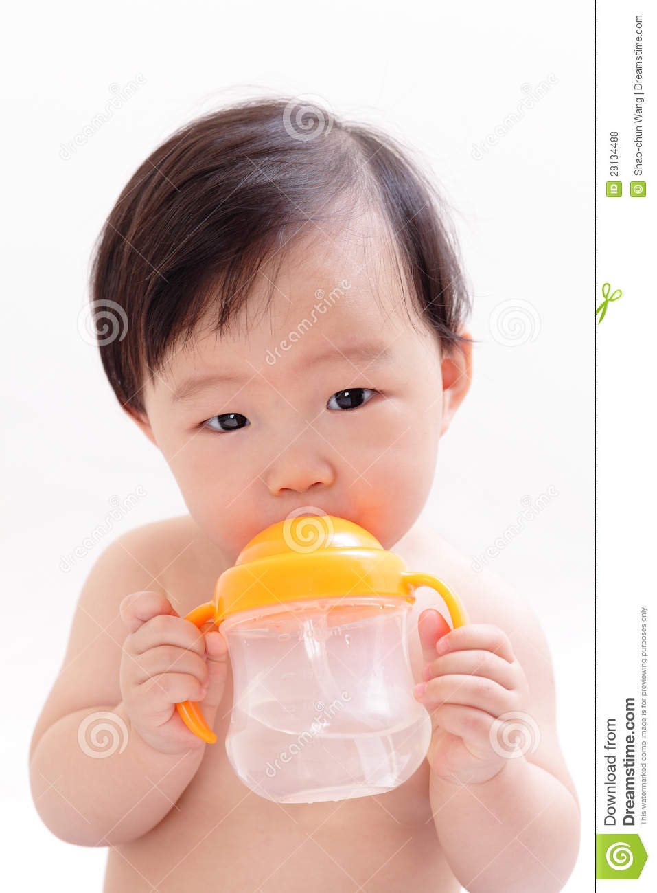 Baby Drinking Water Royalty Free Stock Photos Image