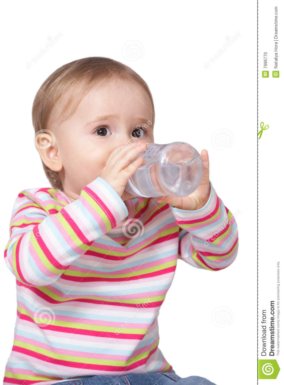 Baby Drinking Water Stock Photo Image Of Adorable