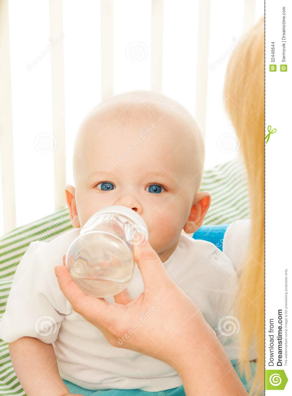 Baby Drinking Water From Bottle Stock Images - Image: 32446644