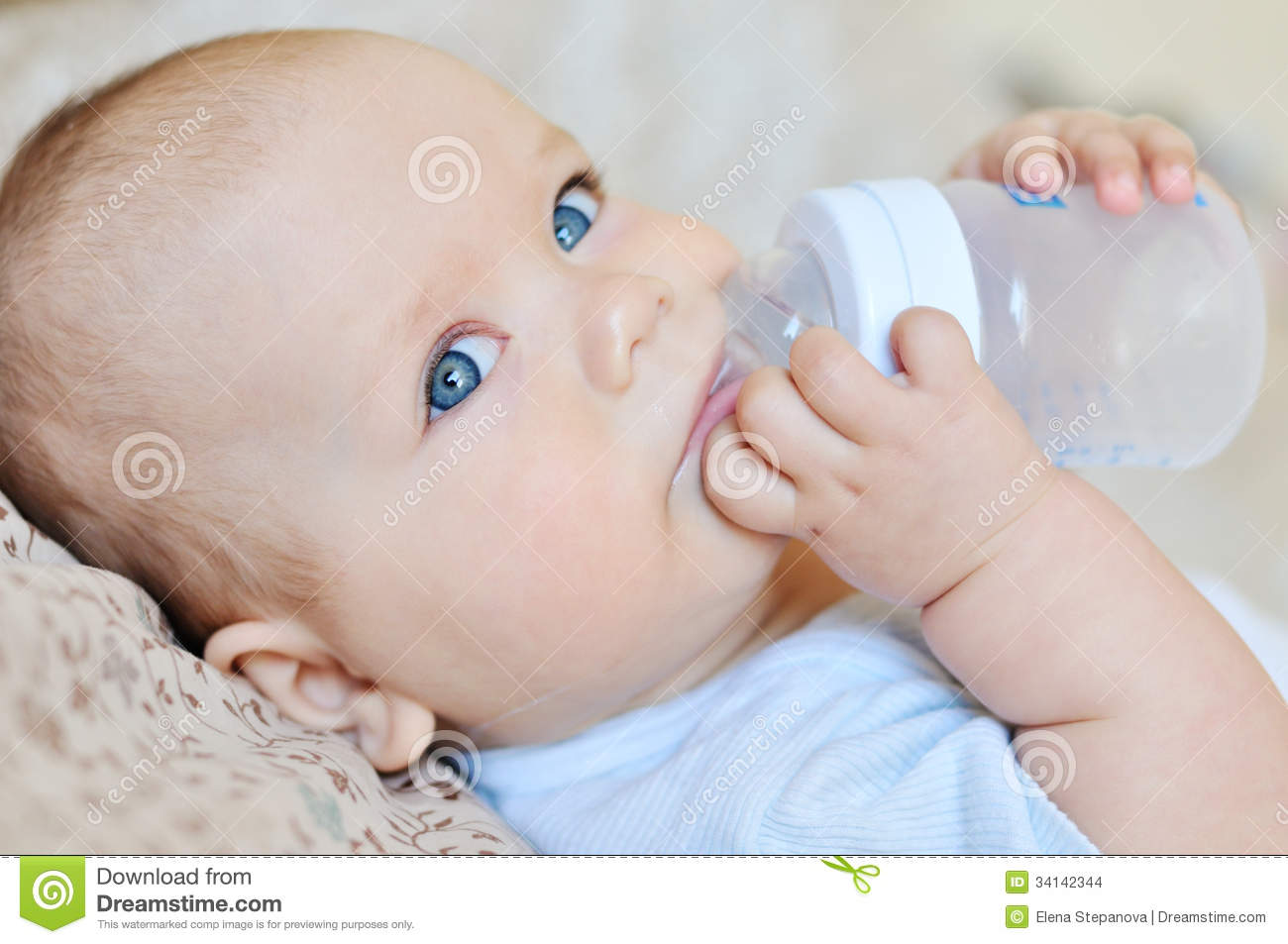 Baby Drinking Water Stock Images - Image: 34142344